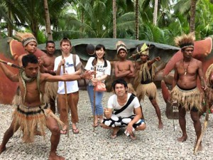 Japanese students with the Bohol natives