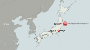 earthquake in Japan map