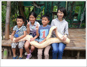 親子で動物園
