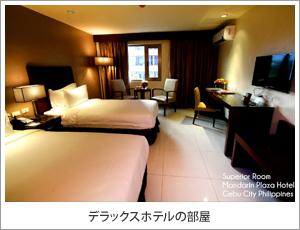 デラックスホテル部屋